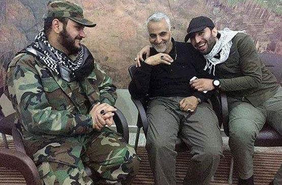 سردار سلیمانی در کنار دشمن شماره یک آمریکا+ تصاویر