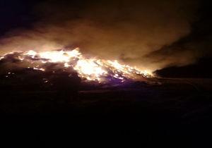 آتش سوزی بیش از ۴۰ هزار کاه خوراک دام در بندرترکمن