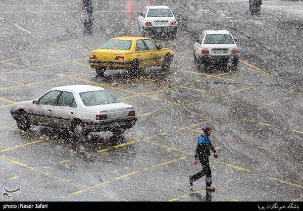 هواشناسی ایران ۹۸/۱۰/۸|افزایش آلودگی هوا در ۵ شهر/ بارش برف و باران ۲ روزه در برخی استانها