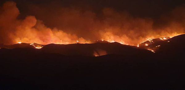 آتش سوزی در مراتع مرز ایران و ترکمنستان